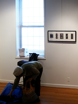 Black and Blue Exhibit: Installation View